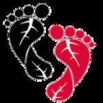 Alminds fodpleje logo